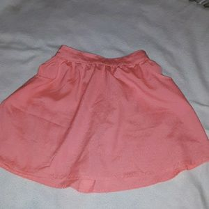 Coral skirt with pockets